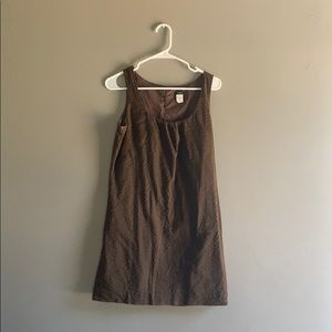 Brown J. Crew summer dress